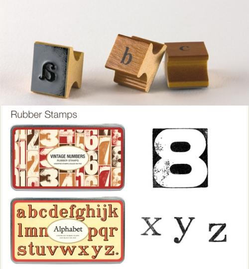 Cavallini Rubber Stamp